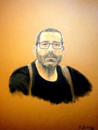 Retrato pastel Mariano Albaladejo
