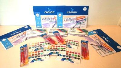 Material para avanzar en la técnica de color en el Tasller de pintura de parkinson Elche