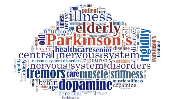 Parkinson's word cloud