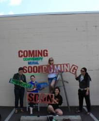 "April ""Coming Soon"" Wall Ad Painting Day"
