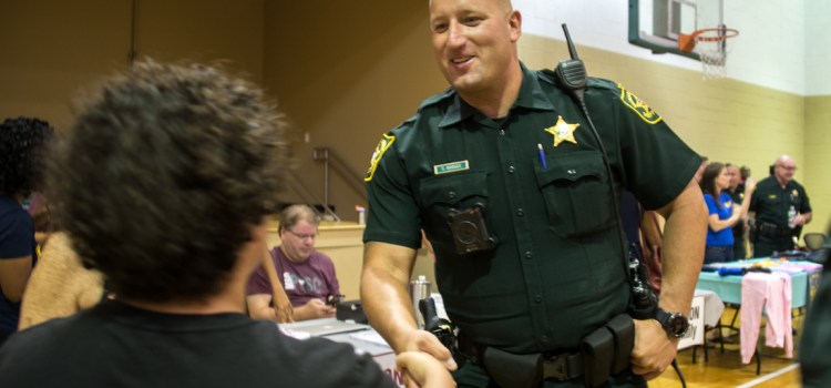 Parkland Residents Meet New Police Captain, Resource Officers, at National Night Out Event