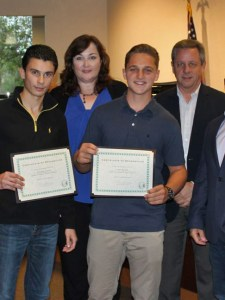 Teens Honored by Parkland Commission for Life-Saving  Boat Rescue