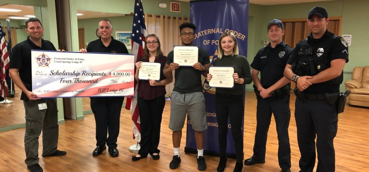 Coral Springs Fraternal Order of Police Offers Scholarships to Marjory Stoneman Douglas Seniors