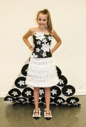 Emma's fabulous design for the Junk Kouture Competition.