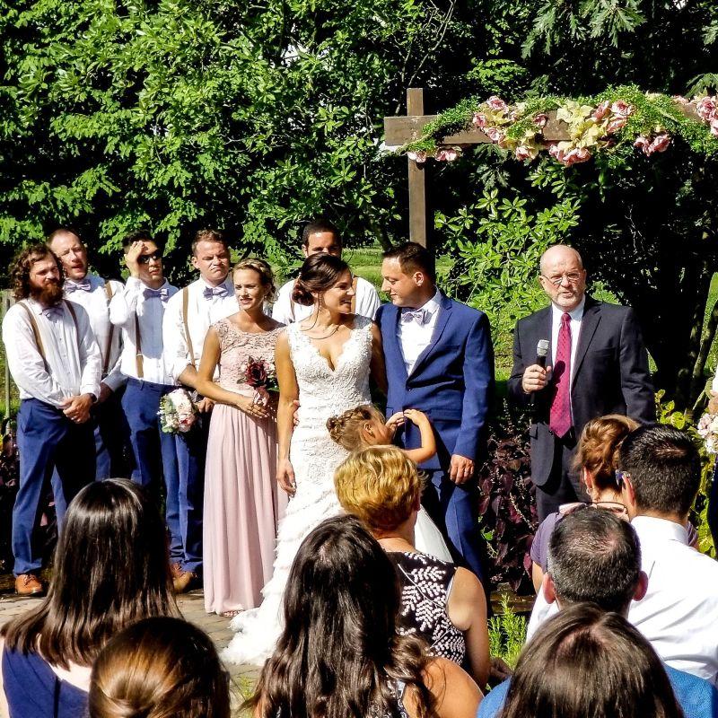 Photo of Lindsay and Matt's wedding video.