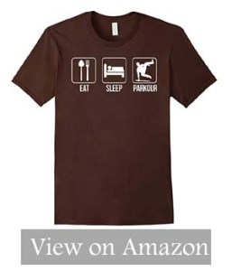 Eat Sleep Parkour Freerunning T-Shirt Funny Parkour Running