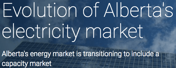 Evolution of Alberta's Electricity Market