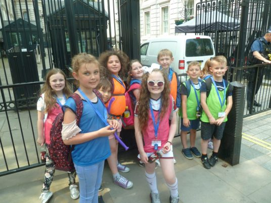 Outside Downing Street