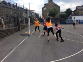 Staff vs. Kids Netball