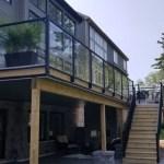 Residential Aluminum Glass Railing Systems Park Rail