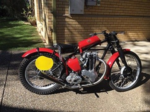 1949 Aerial Red Hunter Motorbike previously owned by the late Queensland Scramble Champion Jack Hannon