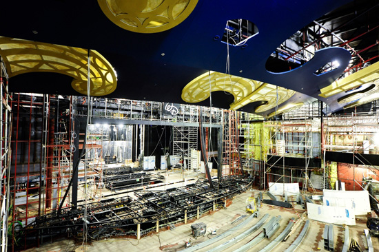 Walt Disney Theatre Construction