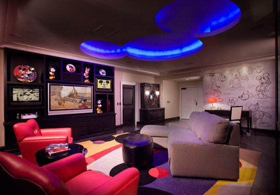 Mickey Mouse Penthouse Living Room