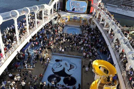 Sailing Away Deck Party During the Maiden Voyage of the Disney Dream