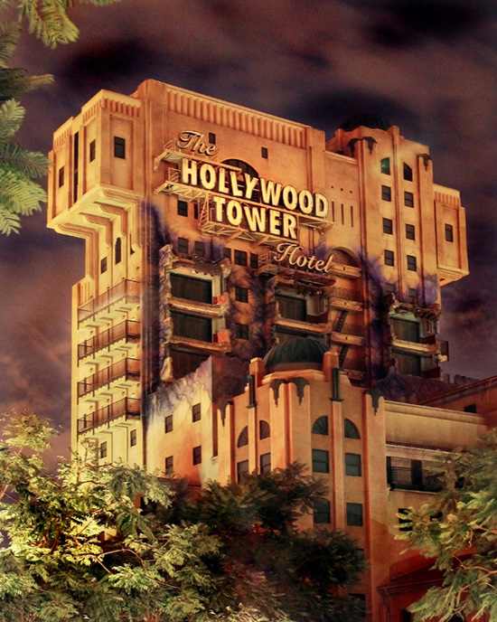 Twilight Zone Tower of Terror at Disney California Adventure Park