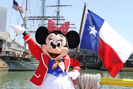 Minnie Mouse visits Galveston, Texas to help announce new Disney Cruise Line itineraries for 2012.