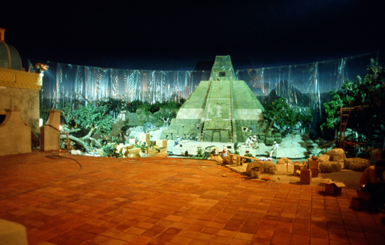 El Río del Tiempo at Epcot While Still Under Construction
