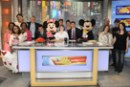 The Winners of the 'Good Morning America' Disney Memory Makers Contest in the Studio on Times Square