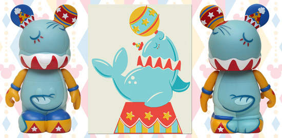 Circus Seal Vinylmation with Art by Caley Hicks