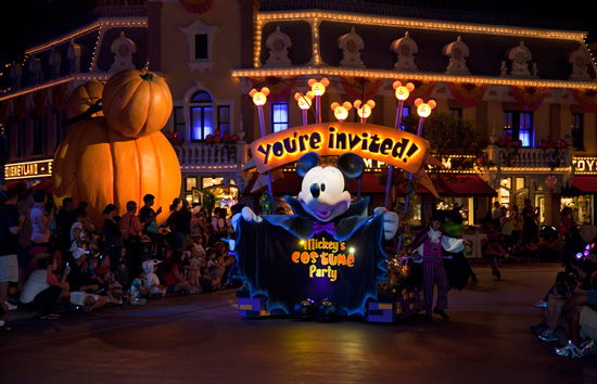 Mickey's Costume Party Cavalcade at Mickey's Halloween Party in Disneyland Park