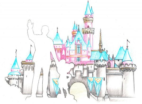 Walt Disney Castle Sketches