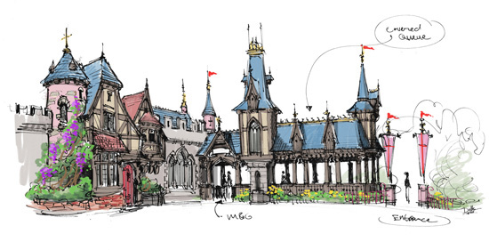 Fantasy Faire Architecture to Extend Fantasyland at Disneyland Park