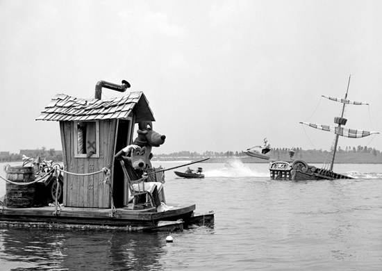 Goofy, Pluto and Smee Enjoy a Day on the Water at Walt Disney World Resort