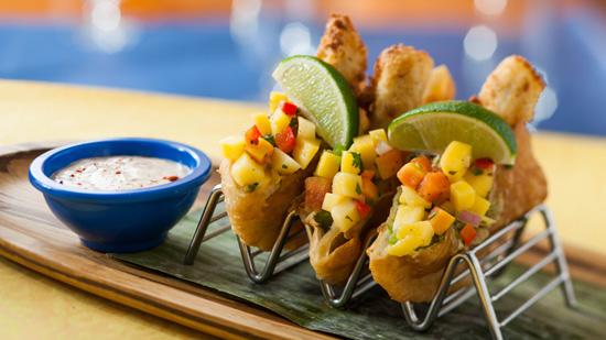 'Mahi Bake' at Shutters Restaurant at Disney's Caribbean Beach Resort