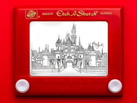 'Princess Etch A Sketch' Art by Jane Labowitch, Featuring Sleeping Beauty Castle