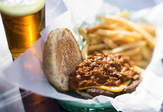 The Angus Beef Chili Burger at Taste Pilots' Grill in Disney California Adventure Park