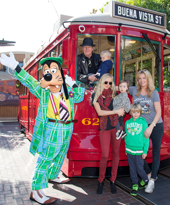 Rod Stewart Celebrates His Son's Birthday with Family at the Disneyland Resort