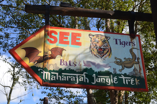 Finish That Disney Parks Sign: Heading on a Maharajah Jungle Trek at Disney's Animal Kingdom
