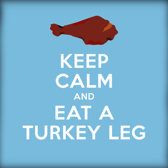 Special Turkey Leg Graphic Shared on Disney Parks Pinterest