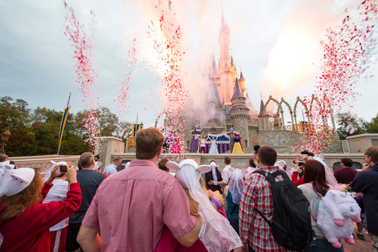 'A Celebration of Love' At Cinderella Castle at Magic Kingdom Park