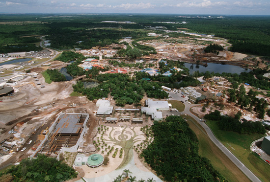An Aerial View of Disney's Animal Kingdom Seven Months Before It Opened