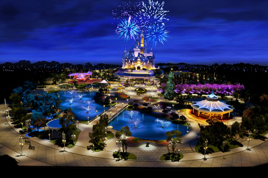 Model of Shanghai Disneyland Park