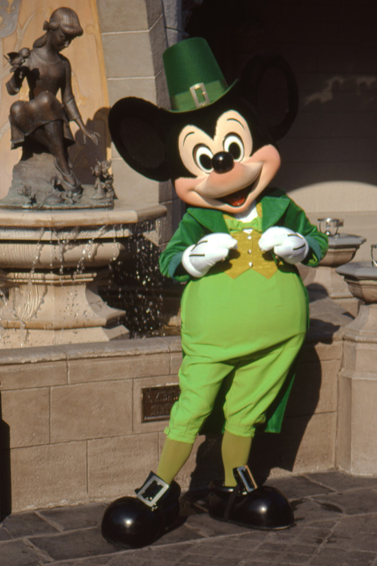 Mickey Celebrates St. Patrick's Day at Magic Kingdom Park in 1978
