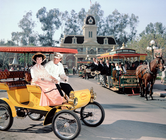 Annette Funicello in a Publicity Photo at Disneyland Park