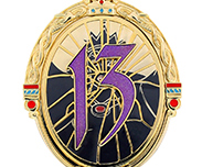 Evil 13 Pin from 13 Reflections of Evil Trading Event at Epcot