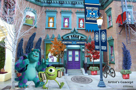 Meeting Mike and Sulley at Disney California Adventure Park