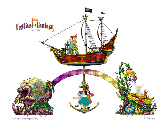 'Peter Pan'-Themed Float for the Disney Festival of Fantasy Parade Coming to Magic Kingdom Park in 2014
