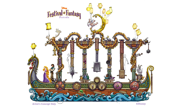 The Story of 'Tangled' Will be Highlighted in the Disney Festival of Fantasy Parade Coming to Magic Kingdom Park in 2014