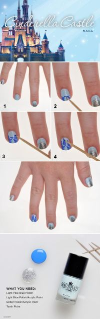 Show Your Disney Side: Cinderella Castle Nail Tutorial ...