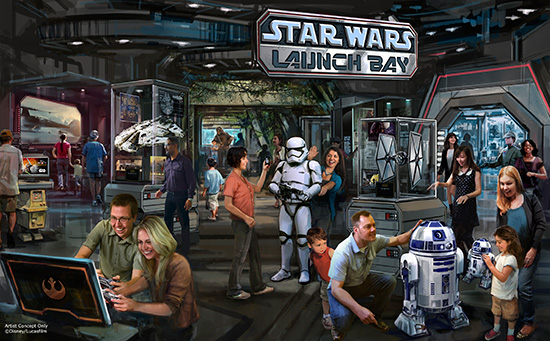 Star Wars Launch Bay Coming to Disney's Hollywood Studios and Disneyland Park