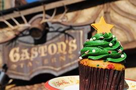 Holiday Tree Cupcake from Gaston's Tavern in New Fantasyland