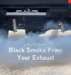 why is black smoke coming out of my exhaust pipe  [ 1637 x 1011 Pixel ]
