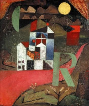 Villa R, 1919.Óleo sobre cartulina, 26,5 x 22 cm.Kunstmuseum, Basilea.