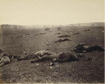 Timothy O'Sullivan,  Harvest of Death, 1863.  Metropolitan Museum of Art, New York.
