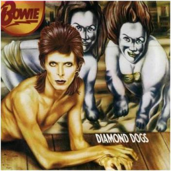 Portada de Diamond Dogs, 1974