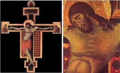 Cimabue, Christ en croix, San Domenico d'Arezzo, 1260-1265